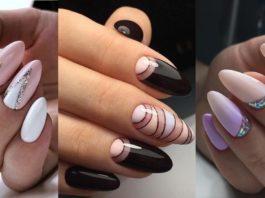 30 изумительных вариантов маникюра на миндалевидную форму ногтей