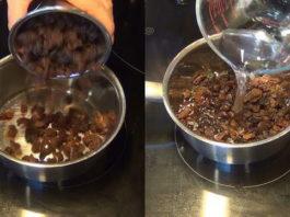 Вода с изюмом в утренние часы, чтобы очистить печень всего за 2 дня