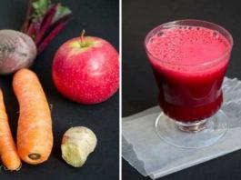 Что происходит, когда вы смешиваете свеклу, морковь и яблоки: стакан сока, который разрушает все болезни