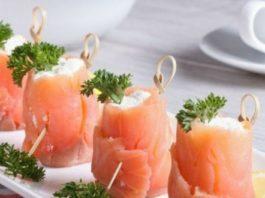 Закуска из рыбы и творога на праздничный стол