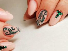 Стильный дизайн маникюра на длинные ногти