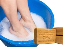 Хозяйственное мыло от кручения и выворачивания ног